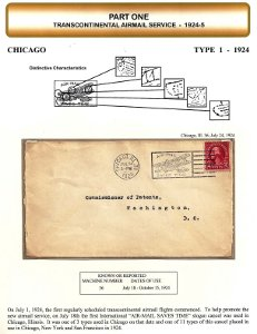"The types and uses of the international ""air-mail saves time"" slogan cancel 1924 to 1941"