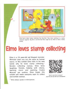 Elmo Loves Stamp Collecting