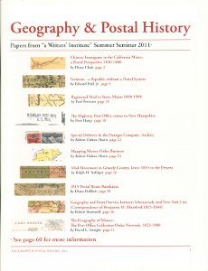 Geography and Postal History